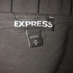 Express Tops - Express Gray T-Shirt Medium Bat Sleeve